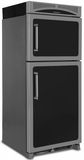 "HCTMR20LBLK Heartland 30"" Refrigerator with Top Mount Freezer & Built-In Rail System for Moving Door Storage Bins - Left Hinge - Black"