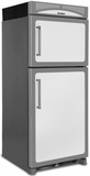 "HCTMR20LWHT Heartland 30"" Refrigerator with Top Mount Freezer & Built-In Rail System for Moving Door Storage Bins - Left Hinge - Vintage White"
