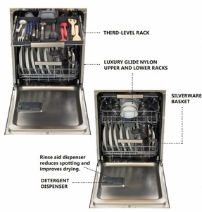 HCTTDWCRN Heartland Dishwasher with Fully Integrated Controls and Stainless Steel Tub - Cranberry