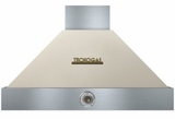 "HD361ACCB Superiore 36"" DECO Wall Mount Hood with Analog Control and Baffe Filters - Cream with Bronze Accent"