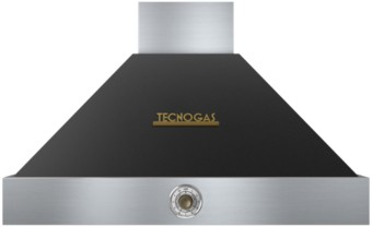 """HD361ACNB Superiore 36"""" DECO Wall Mount Hood with Analog Control and Baffle Filters - Black with Bronze Accent"""