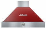 "HD361ACRC Superiore 36"" DECO Wallmouned Hood with Analog Control and Baffle Filters - Red with Gold Accent"