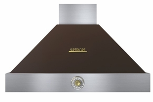 "HD36PACMG Superiore 36"" DECO Series Wallmounted Hood with Analog Control and Baffe Filters - Brown with Gold Accent"