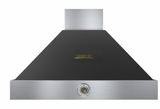 "HD36PACNB Superiore 36"" DECO Series Wallmounted Hood with Analog Control and Baffe Filters - Black with Brown Accent"