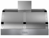 "HD361PBTSC Superiore 36"" DECO Series Wallmount or Undermount Hood with Electric Button Controls and  Baffle Filters - Stainless Steel with Chrome Accent"