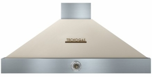 "HD481ACCB Superiore 48"" DECO Wall Mount Hood with Analog Control and Baffle Filters - Cream with Bronze Accent"