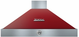 "HD481ACRC Superiore 48"" DECO Wall Mount Hood with Analog Control and Baffle Filters - Red with Chrome Accent"