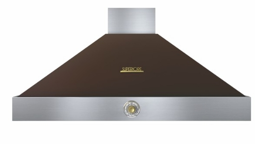 "HD48PACMG Superiore 48"" DECO Series Wall Mounted Hood with Analog Control and 900 CFM - Brown with Gold Accent"