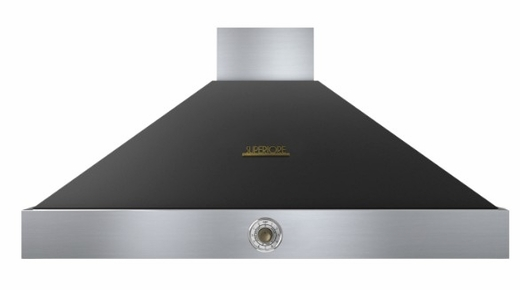 "HD48PACNB Superiore 48"" DECO Series Wall Mounted Hood with Analog Control and 900 CFM - Black with Bronze Accent"