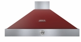 "HD48PACRC Superiore 48"" DECO Series Wall Mounted Hood with Analog Control and 900 CFM - Red with Chrome Accent"