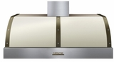 "HD48PBTCB Superiore 48"" DECO Sries Wallmount or Undermount Hood with 900 CFM and Baffle Filters - Cream with Bronze Accent"