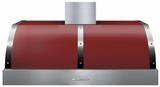 "HD48PBTRC Superiore 48"" DECO Series Wallmount or Undermount Hood with 900 CFM and Baffle Filters - Red with Chrome Accent"