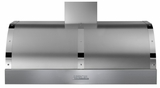 "HD48PBTSC Superiore 48"" DECO Series Wallmount or Undermount Hood with 900 CFM and Baffle Filters - Stainless Steel with Chrome Accent"