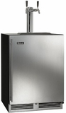 "HC24TB31R2 Perlick 24"" Indoor Beer Dispenser with Dual Faucet Tower - Right Hinge - Stainless Steel"