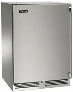 """HH24WS32R Perlick 24"""" Wide Shallow Depth Wine Reserve with Solid Wood Overlay Door, Right Hinge & ADA Compliant - Custom Panel"""