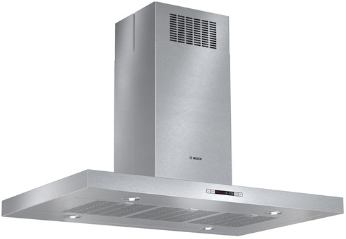 "HIB82651UC Bosch 42"" Stainless Steel Benchmark Series Box Canopy Island Hood - Stainless Steel"
