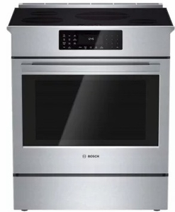 "HII8055U Bosch 30"" 800 Series Induction Slide-in Range with SpeedBoost and European Convection - Stainless Steel"