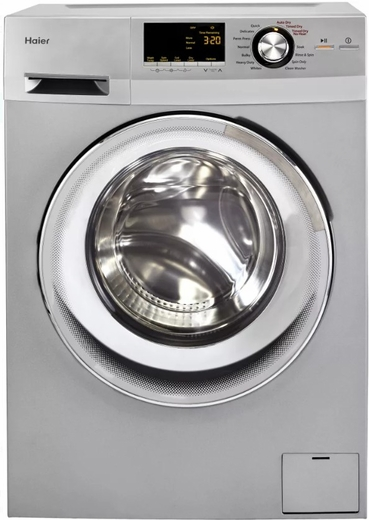 "HLC1700AXS Haier 24"" 2.0 Cubic Feet Front-Load All-in-One Washer/Dryer Combo with Stainless Steel Drum and Non-Vented Condensing Drying  - Silver"