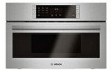 "HMC80152UC 30"" Bosch 800 Series Microwave 2-in-1 Convection Oven with SpeedChef and 1.6 cu ft. Capacity - Stainless Steel"