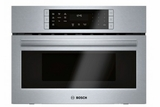"HMC87152UC 27"" Bosch 800 Series Microwave 2-in-1 Convection Oven with SpeedChef and 1.6 cu ft. Capacity - Stainless Steel"