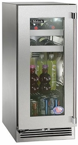 """HP15BS33R Perlick 15"""" Signature Series Beverage Center with Stainless Steel Glass Door - Right Hinge"""