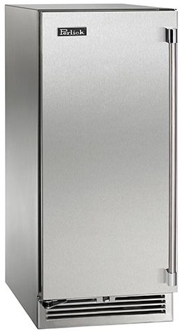 "HP15RO31R Perlick 15"" Signature Series Outdoor Stainless Refrigerator with Solid Stainless Door - Right Hinge"