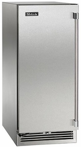 """HP15RO32L Perlick 15"""" Signature Series Outdoor Stainless Refrigerator with Integrated Wood Overlay Solid Door - Left Hinge"""