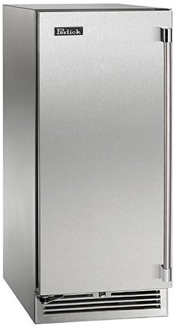 "HP15RS31L Perlick 15"" Signature Series Stainless Refrigerator with Solid Stainless Door - Left Hinge"