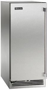 "HP15RS31R Perlick 15"" Signature Series Stainless Refrigerator with Solid Stainless Door - Right Hinge"