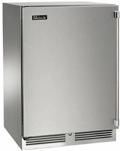 """HP24DS32R Perlick 24"""" Signature Series Dual Zone Wine Reserve with Integrated Wood Overlay Solid Door - Right Hinge"""