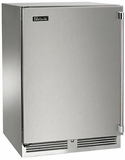 "HP24FO31L Perlick 24"" Signature Series Outdoor Stainless Freezer with Solid Stainless Steel Door - Left Hinge"