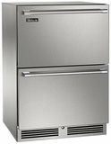 "HP24FO35 Perlick 24"" Signature Series Outdoor Stainless Freezer with Stainless Steel Drawers"