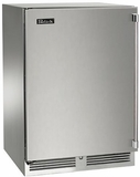 "HP24FS31L Perlick 24"" Signature Series Indoor Stainless Freezer with Solid Stainless Steel Door - Left Hinge"