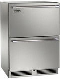 "HP24FS35 Perlick 24"" Signature Series Indoor Stainless Freezer with Stainless Steel Drawers"