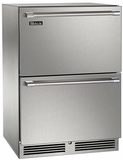 "HP24RS35 Perlick 24"" Signature Series Refrigerator with Stainless Steel Drawers"