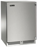 """HP24WO31L Perlick 24"""" Signature Series Outdoor Stainless Wine Reserve with Solid Stainless Steel Door - Left Hinge"""