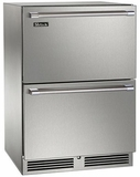 "HP24ZS35 Perlick 24"" Signature Series Dual-Zone Freezer/Refrigerator Drawers 24"" Signature Series Dual-Zone Refrigerator/Freezer Drawers - Stainless Steel"