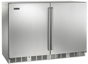 "HP48WOS31L1R Perlick 48"" Signature Series Wine Reserve + Wine Reserve with Solid SS Doors - Stainless Steel"