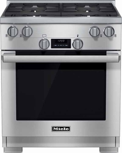 "HR1124G Miele 30"" All Gas Range - Stainless Steel"