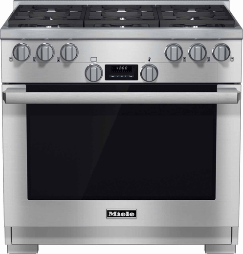 "HR1134G Miele 36"" All Gas Range - Stainless Steel"