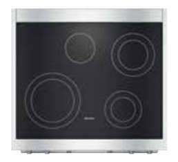 "HR1421E-240V Miele 30"" Electric Range - 240V - Stainless Steel"