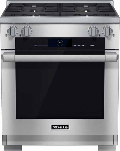 "HR1924DF Miele 30"" Dual Fuel Range - Stainless Steel"