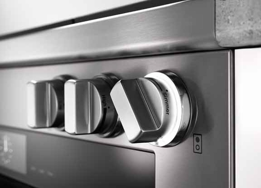 "HR1934DF Miele 36"" Dual Fuel Range - Stainless Steel"