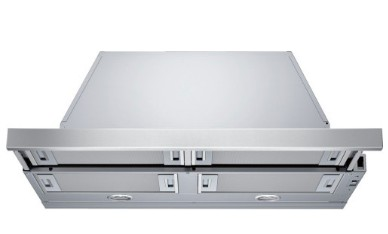 "HUI50351UC 30"" Bosch Pull-Out Hood with 300 CFM Internal Blower and Halogen Lighting - Stainless Steel"