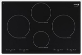 "IFA-80BF Fagor 30"" Induction Cooktop with Beveled Front - Black with Stainless Trim"