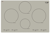 "IFA-80BN  Fagor 30"" Induction Cooktop with Beveled Front - Bonita Grey"