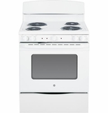 """JB450DFWW GE 30"""" Free Standing Electric Range with 5.0 Cu. Ft. Oven Capacity - White"""