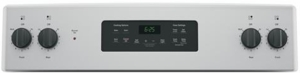 """JB625GKSA GE 30""""  Free Standing Electric Range with 4 Smoothtop Elements and Dual 4-Pass Heating Elements - Silver"""