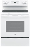 """JB645DKWW GE 30"""" Freestanding Electric Range with Ceramic Glass Cooktop - White"""