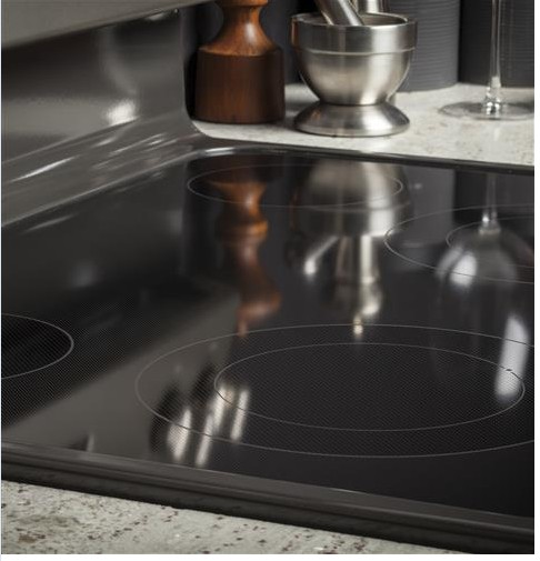 "JB645EKES GE 30"" Freestanding Electric Range with Ceramic Glass Cooktop - Slate"